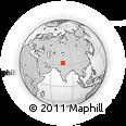 Outline Map of Chamba, rectangular outline