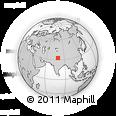 Outline Map of Ukdungle, rectangular outline