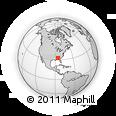Outline Map of Society Hill, rectangular outline