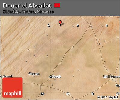 Satellite Map of Douar El Absailat