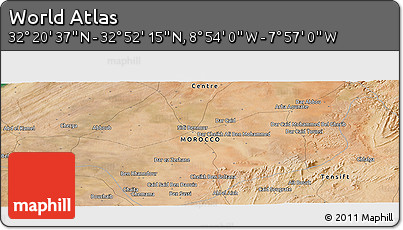 "Satellite Panoramic Map of the Area around 32°36'26""N,8°25'30""W"