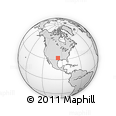 Outline Map of Cathedral Guadalupe, rectangular outline