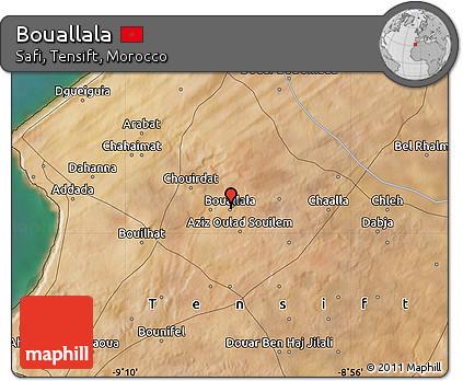 Satellite Map of Bouallala