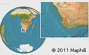"Satellite Location Map of the area around 32°17'31""S,18°46'29""E"