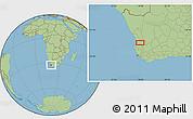 "Savanna Style Location Map of the area around 32°17'31""S,18°46'29""E"