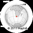 "Outline Map of the Area around 32° 17' 31"" S, 18° 46' 29"" E, rectangular outline"