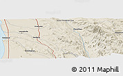 """Shaded Relief Panoramic Map of the area around 32°17'31""""S,18°46'29""""E"""