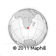 Outline Map of Butterworth, rectangular outline