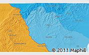 Political 3D Map of Cañitas