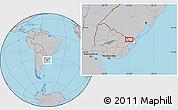 Gray Location Map of Cañitas