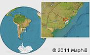 Satellite Location Map of Cañitas