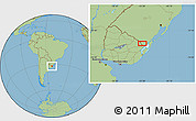 Savanna Style Location Map of Cañitas
