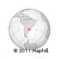 Outline Map of Cañada Sauce, rectangular outline