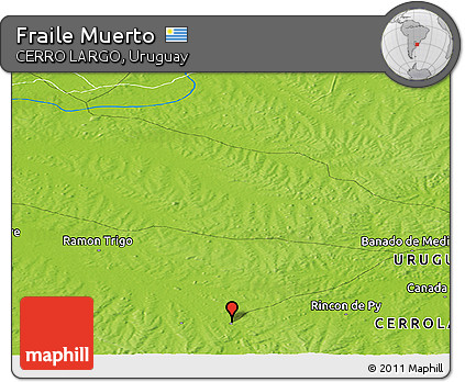Physical Panoramic Map of Fraile Muerto