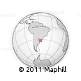 Outline Map of La Mazamorra, rectangular outline