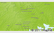 """Physical 3D Map of the area around 32°17'31""""S,56°1'29""""W"""