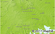 """Physical Map of the area around 32°17'31""""S,56°1'29""""W"""