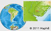 Physical Location Map of Tres Árboles