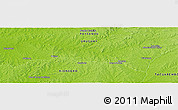 """Physical Panoramic Map of the area around 32°17'31""""S,56°52'30""""W"""