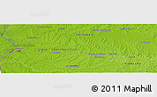 Physical Panoramic Map of Paysandú