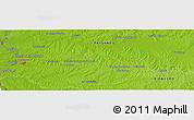 Physical Panoramic Map of Guayabos