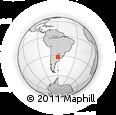 Outline Map of Entre Rios, rectangular outline
