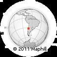 Outline Map of Zapallar, rectangular outline