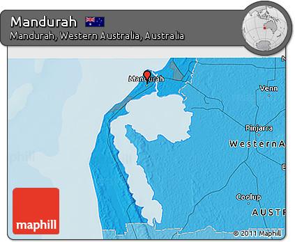 Free Political 3D Map of Mandurah