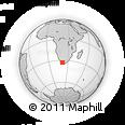 Outline Map of Merweville, rectangular outline