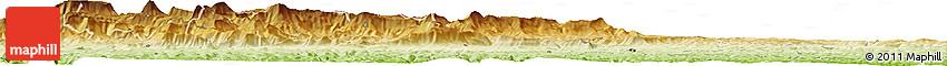 Physical Horizon Map of Bisho