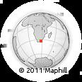 Outline Map of Bisho, rectangular outline