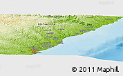 """Physical Panoramic Map of the area around 32°45'51""""S,28°7'30""""E"""