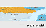 """Political Panoramic Map of the area around 32°45'51""""S,53°28'30""""W"""