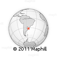 Outline Map of Arbolito, rectangular outline