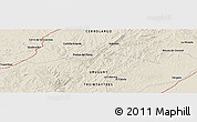 "Shaded Relief Panoramic Map of the area around 32° 45' 51"" S, 54° 19' 30"" W"