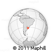 Outline Map of La Paloma, rectangular outline