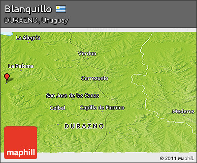 Physical Panoramic Map of Blanquillo