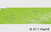 Physical Panoramic Map of Las Cañas