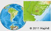 Physical Location Map of San Gregorio de Polanco