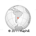 Outline Map of Menafra, rectangular outline