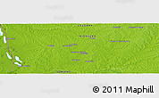 "Physical Panoramic Map of the area around 32° 45' 51"" S, 57° 43' 30"" W"
