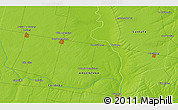 """Physical 3D Map of the area around 32°45'51""""S,61°58'30""""W"""