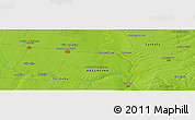 """Physical Panoramic Map of the area around 32°45'51""""S,61°58'30""""W"""
