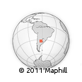 Outline Map of Bell Ville, rectangular outline