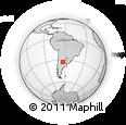 Outline Map of General Deheza, rectangular outline