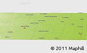 Physical Panoramic Map of General Cabrera