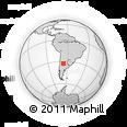 Outline Map of Algarrobos Grandes, rectangular outline
