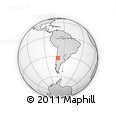 Outline Map of Aconcagua, rectangular outline