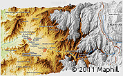 """Physical 3D Map of the area around 32°45'51""""S,70°28'29""""W"""