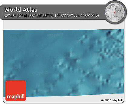 """Satellite 3D Map of the Area around 33°4'42""""N,10°7'30""""W"""
